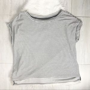 Lou & Grey Striped Short Sleeve Oversized Top XL